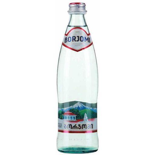Вода минеральная Боржоми, лечебно-столовая газированная, в стеклянной бутылке, 0.33 л, 1шт.