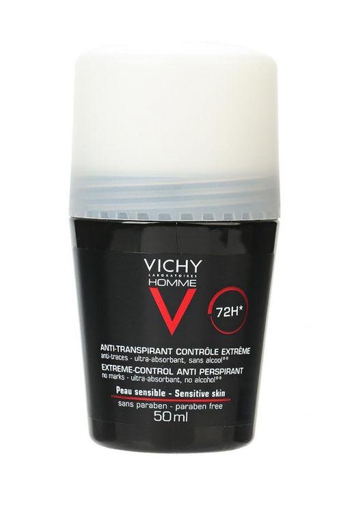 Vichy Homme дезодорант против избыточного потоотделения 72ч, светлый, 50 мл, 1шт.