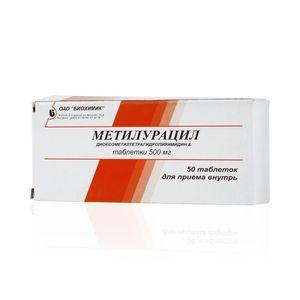 Метилурацил, 0.5 г, таблетки, 50шт.