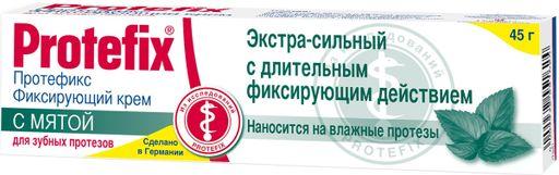 Протефикс крем фиксирующий, крем для фиксации зубных протезов, с мятой, 40 г, 1шт.
