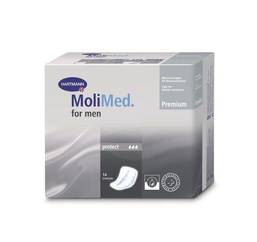 Molimed Premium вкладыши урологические для мужчин Протект, 3 капли, 14шт.
