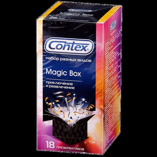 Презервативы Contex Magic Box Приключение и развлечение, в ассортименте, 18шт.