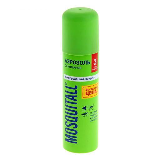 Mosquitall Универсальная защита аэрозоль, аэрозоль, на кожу, 150 мл, 1шт.