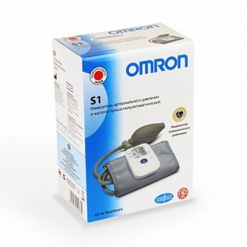 Тонометр полуавтоматический OMRON S1, 1шт.
