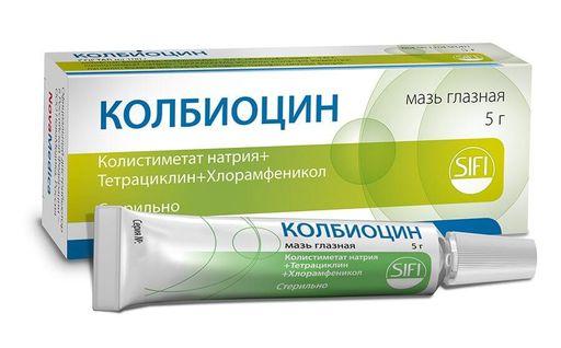Колбиоцин, мазь глазная, 5 г, 1шт.
