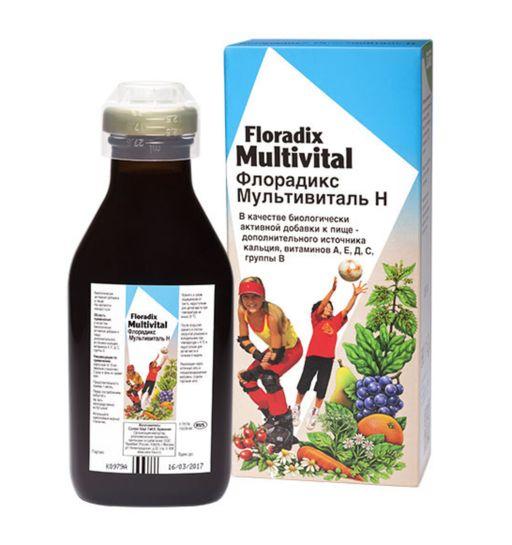 Флорадикс Мультивиталь, жидкость для приема внутрь, 250 мл, 1шт.