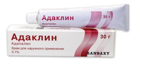 Адаклин, 0.1%, крем для наружного применения, 30 г, 1шт.