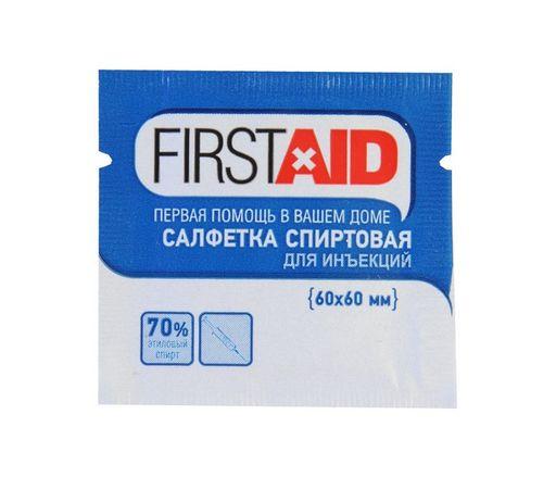 Салфетка антисептическая Firstaid, 60 х 60 мм, салфетки стерильные, 20шт.
