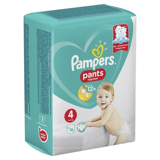 Pampers Pants Подгузники-трусики детские , р. 4, 9-15 кг, 16шт.