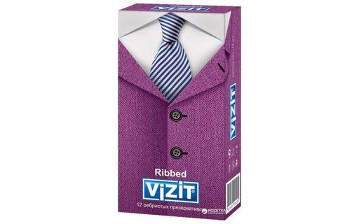 Презервативы Vizit Ribbed, презерватив, ребристые, 12шт.