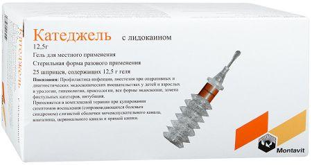 Катеджель с лидокаином, гель для наружного применения, 12.5 г, 25шт.