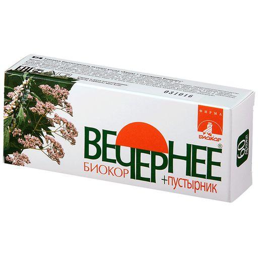 Вечернее + Пустырник Биокор Валериана + Пустырник, драже, 60шт.