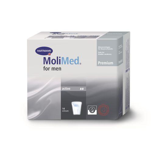 Molimed Premium вкладыши урологические для мужчин Актив, 2 капли, 14шт.