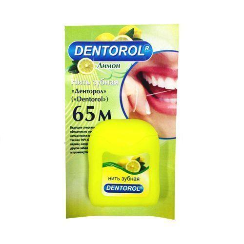 Dentorol нить зубная, 65 м, нити зубные, лимон, 1шт.