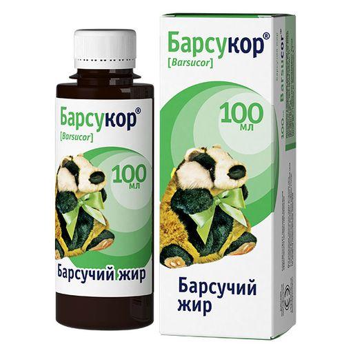 Барсукор барсучий жир, жидкость для приема внутрь, 100 мл, 1шт.