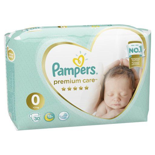 Pampers Premium Care Подгузники детские, р. 0, до 3 кг, 30шт.
