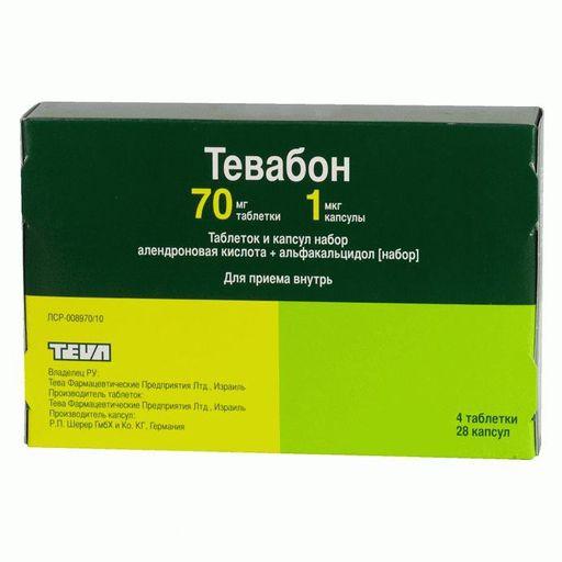 Тевабон, таблеток и капсул набор, 32шт.