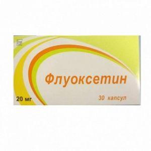 Флуоксетин, 20 мг, капсулы, 30шт.