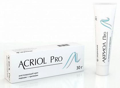 Акриол Про, 2.5%+2.5%, крем для местного и наружного применения, 30 г, 1шт.