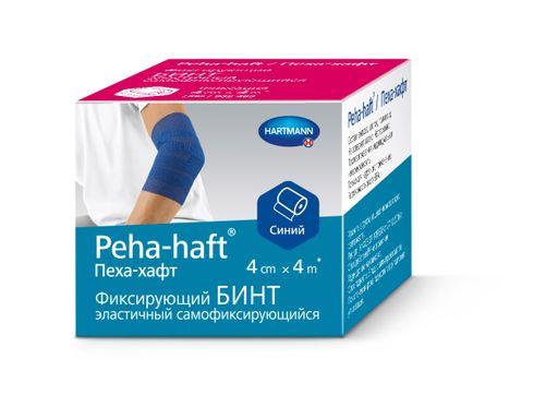 Peha-haft Бинт самофиксирующийся, 4смх4м, синего цвета, 1шт.