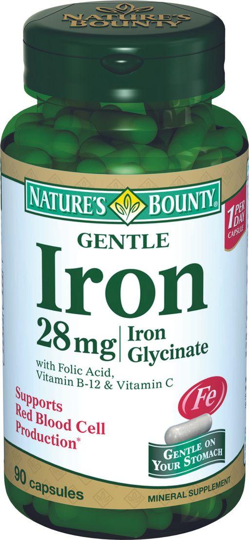 Natures Bounty Легкодоступное железо 28 мг, капсулы, 90шт.