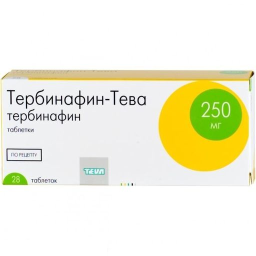 Тербинафин-Тева, 250 мг, таблетки, 28шт.
