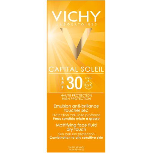 Vichy Capital Ideal Soleil Dry Touch SPF30 эмульсия матирующая, эмульсия для наружного применения, 50 мл, 1шт.