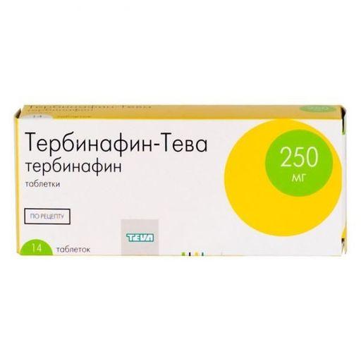 Тербинафин-Тева, 250 мг, таблетки, 14шт.