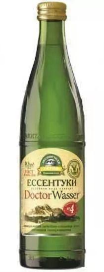 Вода минеральная Ессентуки-4, лечебно-столовая газированная, в стеклянной бутылке, 500 мл, 1шт.