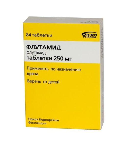 Флутамид, 250 мг, таблетки, покрытые оболочкой, 84шт.