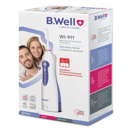 B.WELL Ирригатор для полости рта WI-911, 3 режима работы, 2 насадки, 1шт.