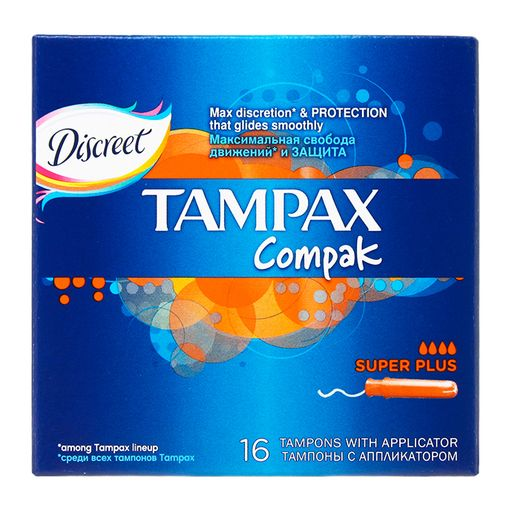 Tampax Compak super plus тампоны с аппликатором, 16шт.
