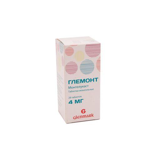 Глемонт, 4 мг, таблетки жевательные, 28шт.