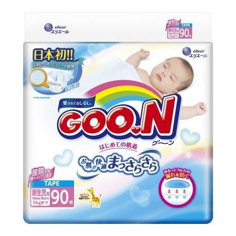 Подгузники детские GOON, 0-5 кг, р. NB, 90шт.