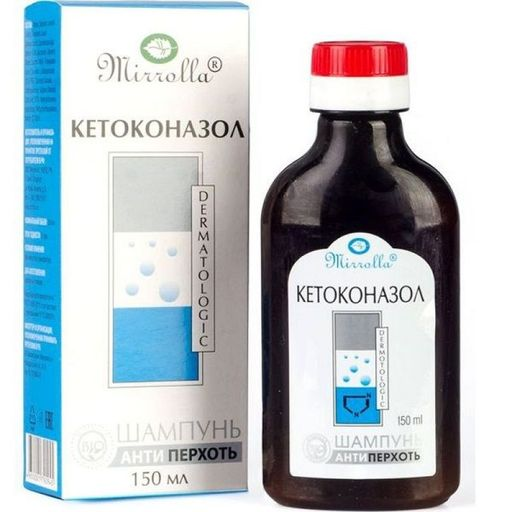Mirrolla Шампунь от перхоти с кетоконазолом, шампунь, 150 мл, 1шт.
