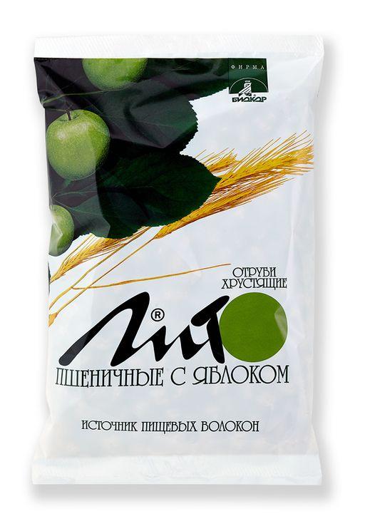 Отруби пшеничные хрустящие Лито с кальцием и яблоком, гранулы, 200 г, 1шт.