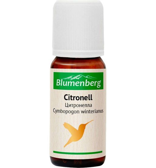 Blumenberg Эфирное масло Цитронелла, масло эфирное, 10 мл, 1шт.