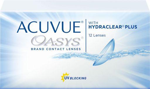 Acuvue Oasys Линзы контактные Двухнедельные, BC=8,4 d=14,0, D(-2.00), стерильно, 12шт.
