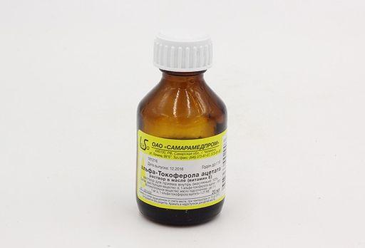 Альфа-токоферола ацетат (Витамин Е), 300 мг/мл, раствор для приема внутрь в масле, 20 мл, 1шт.