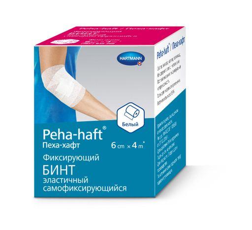 Peha-haft Бинт самофиксирующийся, 6смх4м, белого цвета, 1шт.