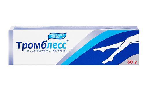 Тромблесс, 1000 ЕД/г, гель для наружного применения, 30 г, 1шт.