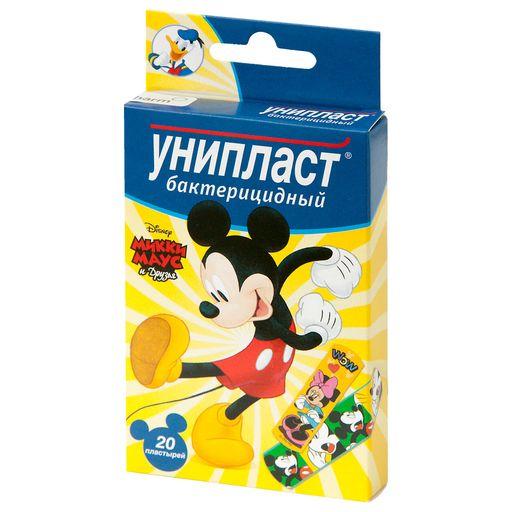 Унипласт лейкопластырь бактерицидный Микки Маус, пластырь для детей, в ассортименте, 20шт.