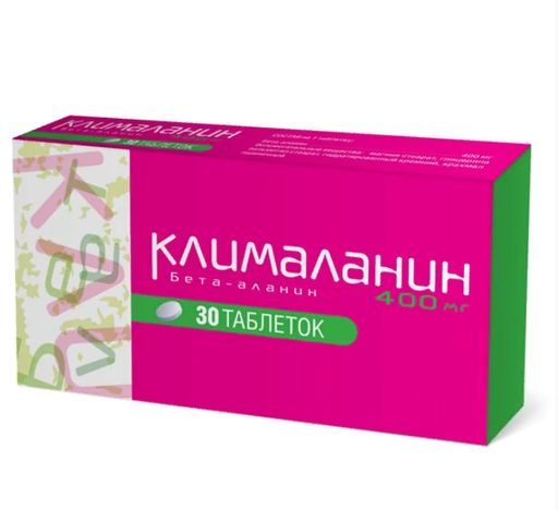 Клималанин, 400 мг, таблетки, 30шт.