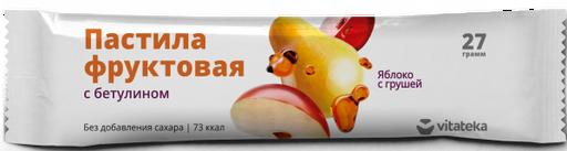 Витатека Пастила фруктовая Яблоко с грушей, 27 г, 1шт.