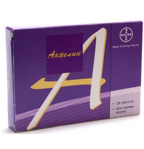 Анжелик, 2 мг+1 мг, таблетки, покрытые пленочной оболочкой, 28шт.