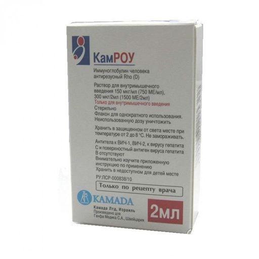 КамРОУ, 750 МЕ/мл, раствор для внутримышечного введения, 2 мл, 1шт.