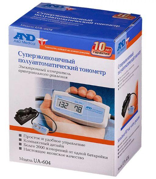 Тонометр полуавтоматический AND UA-604, 1шт.
