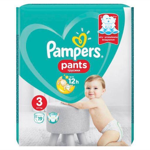 Pampers Pants Подгузники-трусики детские, р. 3, 6-11 кг, 19шт.