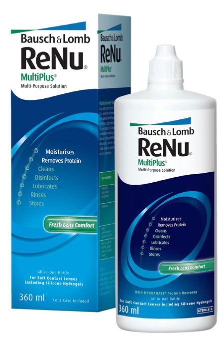 ReNu Multi Plus, раствор для обработки и хранения мягких контактных линз, 360 мл, 1шт.