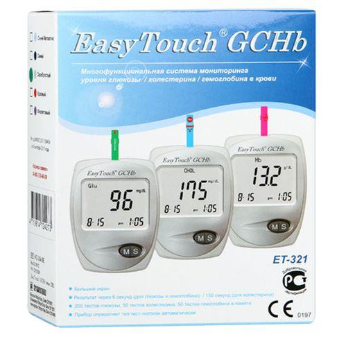 EasyTouch GCHB ET-321 анализатор крови Глюкоза Холестерин Гемоглобин, арт. MG304-3E, 1шт.